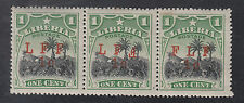 Liberia # M3, a, b Strip of Three 2nd F Inverted & FLF Varieties Two MNH