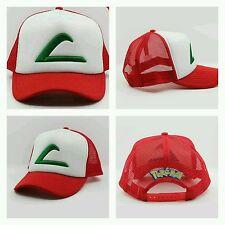 Pokemon Ash Ketchum Snapback Trucker Hat Cosplay Pokémon