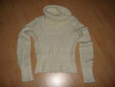 1 Strick Rollkragen Pullover, H&M, Gr. 34, naturweiß, Acryl/Mohair/Polyester