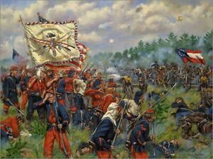 Maritato S/N Ltd Ed Civil War Canvas Art Print Taking Griffin's Battery 24x18