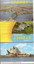 Scenic Sydney 1970's Opera house construction 12 fold postcards Spit bridge nf3