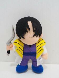 """Rurouni Kenshin Shinomori Aoshi Banpresto 1996 Plush 8"""" TAG Toy Doll Japan"""