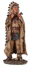 "13.25"" Native Indian Statue Figure Figurine Indio American North"