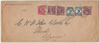 Kangaroo stamps 2&1/2d 3rd wmk uprated with various KGV issues on 1919 cover