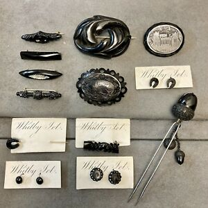 Victorian whitby jet Jewellery Collection
