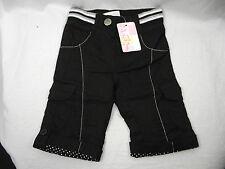 Bnwt Baby Girls Sz 00 Designer Bqt Brand Smart Black Roll Leg Cargo Style Jeans