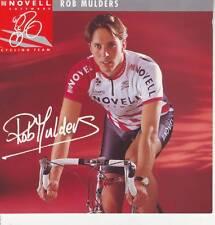 CYCLISME carte cycliste BOB MULDERS équipe NOVELL 1995