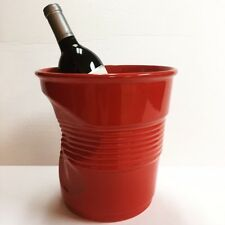 Revol Porcelain Crumple Ice Champagne Bucket Wine Pepper Red Bar Dinner Party
