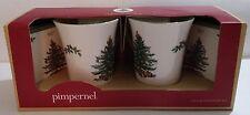 SPODE PIMPERNEL CHRISTMAS TREE 2 MUG & COASTER GIFT SET - NIB