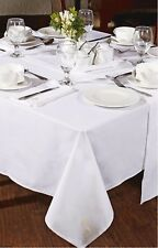 Set of 4 White Luxury Napkins & Tablecloth 140 x 230 cm Embroidered Motif