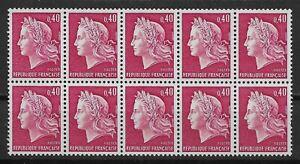 1969 FRANCE Block of 10 MNH OG Stamps (Scott # 1231b)