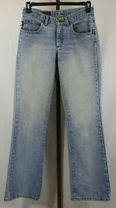 Lee Dungarees Mnes Blue Denim Flare Leg Jeans Size 30 x 32