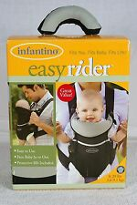 INFANTINO EASY RIDER BLACK GREEN BABY CARRIER POUCH 8-20 LBS.