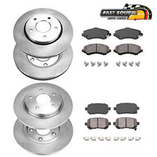 Front+Rear Rotors Ceramic Pads For 09 - 13 Town & Country Grand Caravan Journey