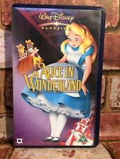 ALICE IN WONDERLAND VHS DISNEY ANIMATION Lewis Carroll ORIGINAL CLASSIC Video