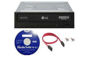 LG WH16NS60 16x Internal Blu-ray BDXL DVD CD M-Disc Burner Drive UHD 4K Playback