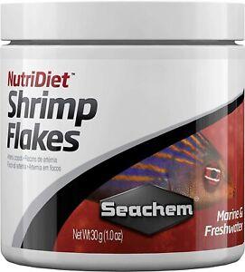 Seachem NutriDiet Shrimp Flakes - Probiotic Fish Food with GarlicGuard 1.0-Ounce