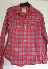 Excellent Condition Hollister Red Check Long Sleeve Shirt Size XS