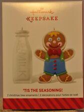 Hallmark - Tis The Seasoning! - Milk Gingerbread Boy - Set of 2 - 2014 Ornament