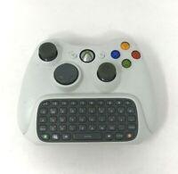 Microsoft Xbox 360 Wireless Controller +Gaming Chatpad Keyboard Gray OEM Genuine