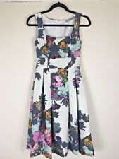 BNWT Asos Size 6 Botanical Floral Skater Dress Wedding Party Skater Grey