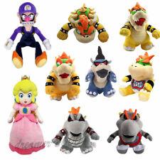 Super Mario Bros King Dark Bowser Jr. Koopa Family Plush Doll Stuffed Toy Gift