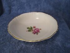 """Syracuse China Rosalie Federal Shape Round Serving Bowl 9"""" Roses + Gold Trim WOW"""