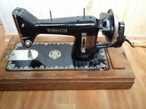 Original Vintage Antique German Sewing Machine Knoch Marked