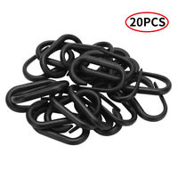 20X Plastic Carabiner D-Ring Key Chain Clip Snap Hooks Locking Buckles Camping
