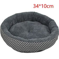 1pc Warm Round Dog Bed Soft Kitten Puppy House Pets Mat Sofa For Small Dogs Grey