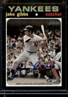 2020 Topps Heritage Real One Auto Jake Gibbs (#ROA-JGI) Yankees