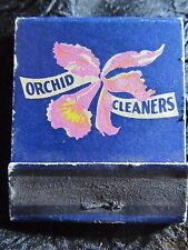 Vintage ORCHID CLEANERS of CHICAGO MATCH COVER ~:~1921-1948~ old dry cleaning ad