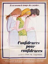 Affiche 40x60cm CONFIDENCES POUR CONFIDENCES (1978) Pascal Thomas TBE #