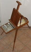 Vintage Wood Grumbacher Portable Easel No. 286 Made in France Tin Lining