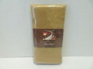 HOME WEAR Dinner Party Cloth Napkins Bountiful Thanksgiving Fall Set of 4 NEW