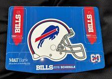 2019 football pocket schedule calendar key ring Buffalo Bills RUN M&T M & T Bank
