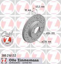 Disque de frein avant ZIMMERMANN PERCE 380.2161.52 PROTON PERSONA 400 C9_S 413 7