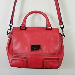 OROTON Womens Red Leather Crossbody Bag / Handbag