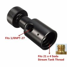 Pcp paintball Co2 adapter remote hose universal fill adapter On/Off Asa - Bla