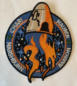 """ORIG SPACEX NASA CREW-3 TESC EMBLEM LUCKY EDITION DRAGON ISS Mission Patch 3"""""""