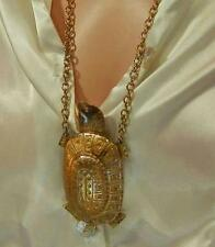 MASSIVE MR WE Signed Vintage 70's Modernist Turtle Necklace 382MY6