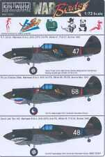 Kits World Decals 1/72 CURTISS P-40 WARHAWK SHARKMOUTH AVG & British