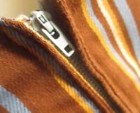 Medium True Vtg 60s HANDMADE GARAGE BAND ZIP BROWN STRIPED VEST Top Shirt