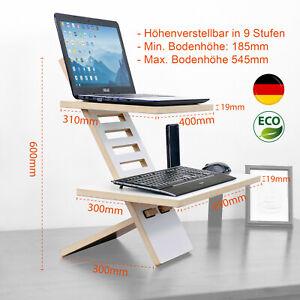 Laptop-Stehpult MEDIUM, Steh Arbeitsplatz, Stehschreibtisch, Computertisch