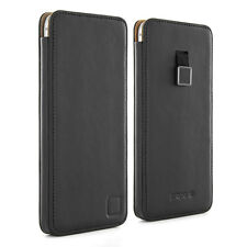 Genuine Leather Case Sleeve for iPhone 6 Plus Black Magnetic Pull Tag-Proporta