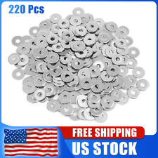 220pcs M5 x 16mm x1mm Stainless Steel Car Plain Shim Washers Gaskets