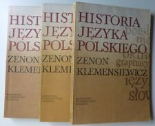 HISTORIA JĘZYKA POLSKIEGO - Zenon Klemensiewicz Tomy I-III komplet 1985 wyd. VI