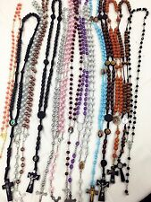 Closeout -12pc Mix Lot wholesale Religious Rosary Crucifix Cross Necklace (USA)