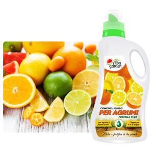 Concime Liquido Fertilizzante NPK per Agrumi Frutti Limoni Aranci Mandarini 1 Lt