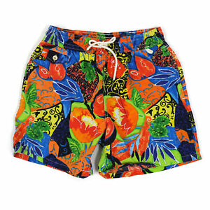 Polo Ralph Lauren Swimsuit Swim Shorts - Picasso Print Orange